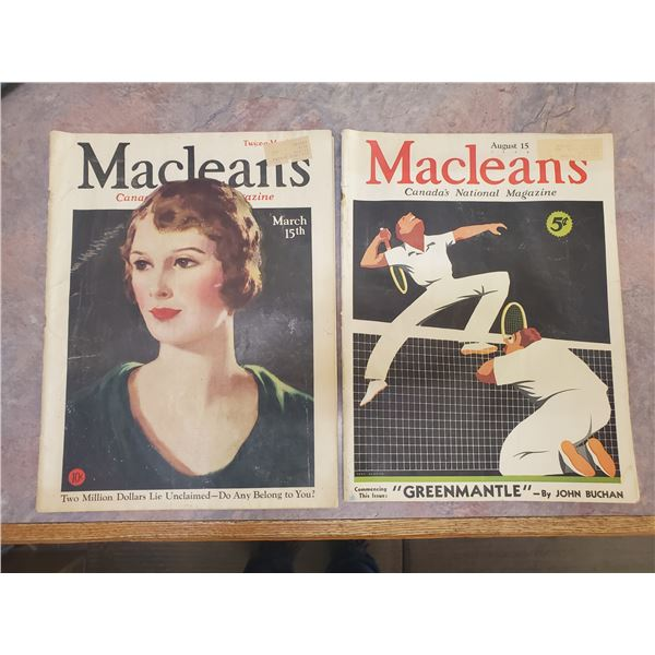 1932+1935 Maclean's magazine (pages 0, 3, 23, 27)