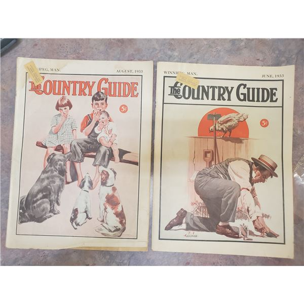 1933 country guide 2 books