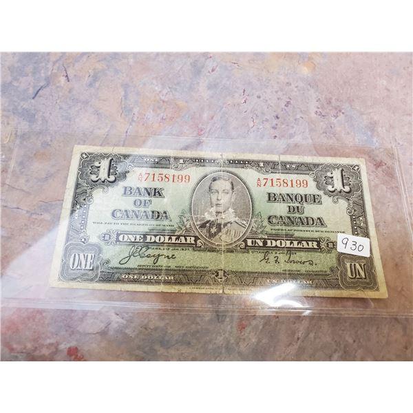 1937 $1 bill