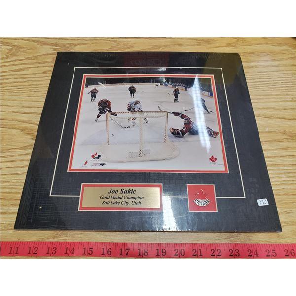 joe sakic team canada hockey display