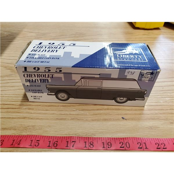 """1955 Chevy delivery """"Liberty Classics"""" coin bank"""
