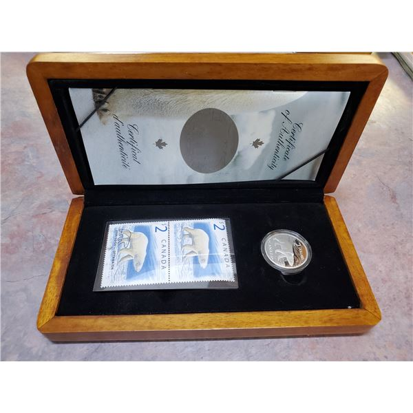 2004 $5 silver coin & stamp set