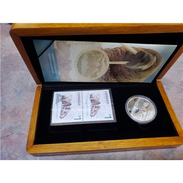 2005 $5 silver coin & stamp set