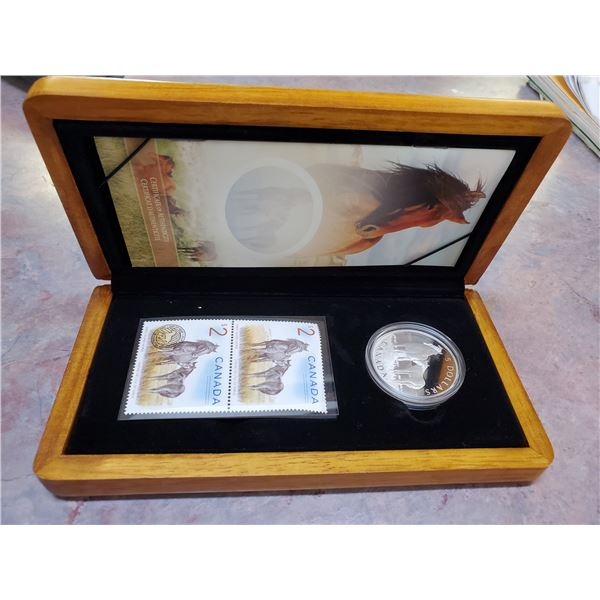2006 $5 silver coin & stamp set
