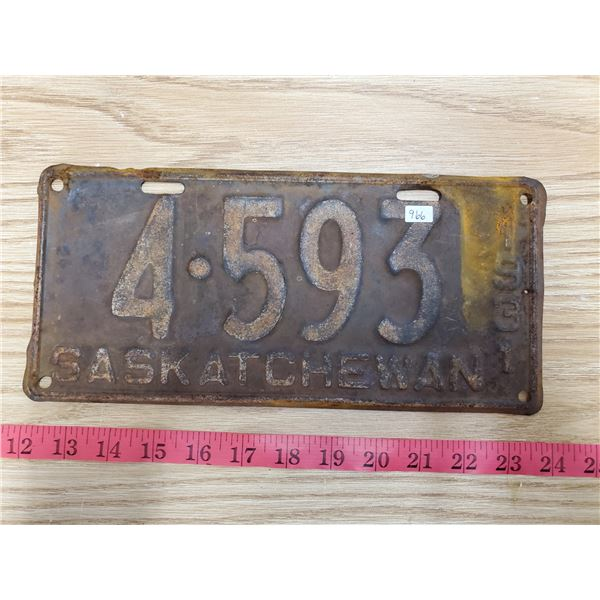 1931 Saskatchewan license plate