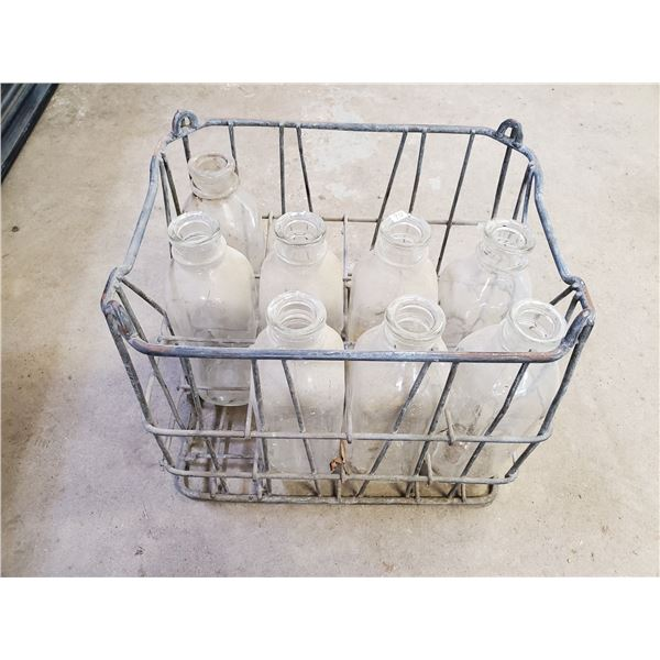 wire milk crate