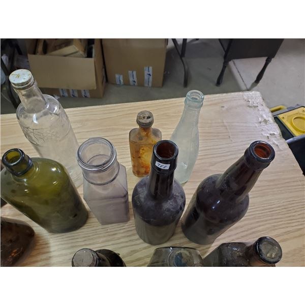 lot of medicine bottles