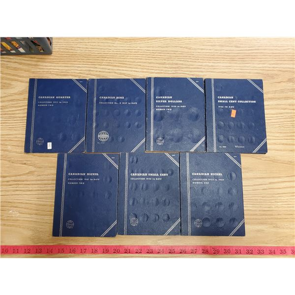 Whitman coin albums (7) some w/ coins