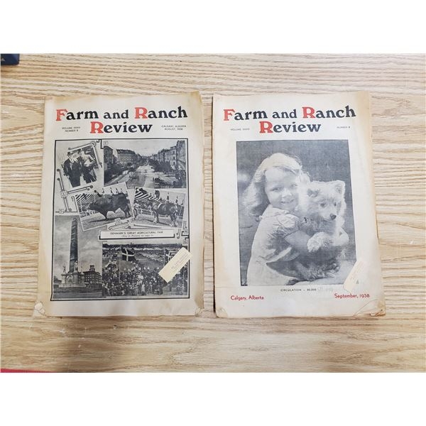 2 x 1938 farm & ranch review