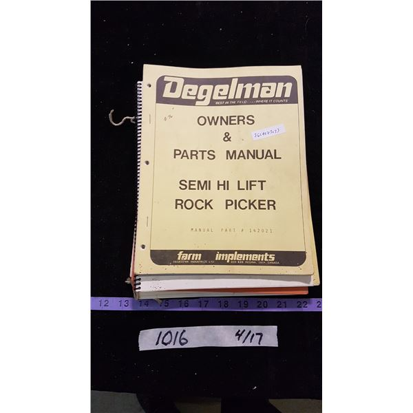 Ag Operator & Parts Manuals