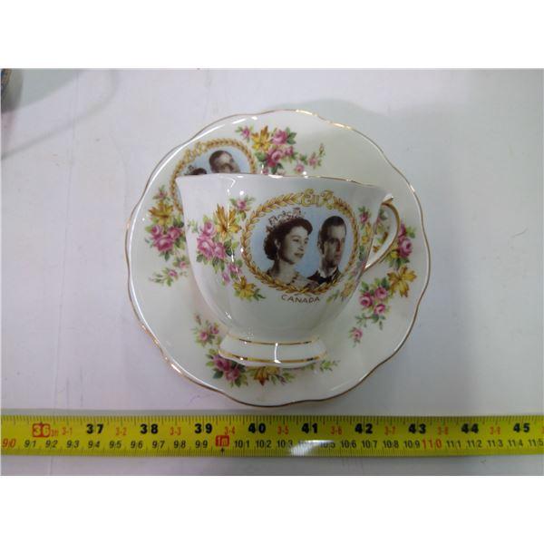 Teacup & Saucer - China - Royal Albert - 1959 Royal Visit