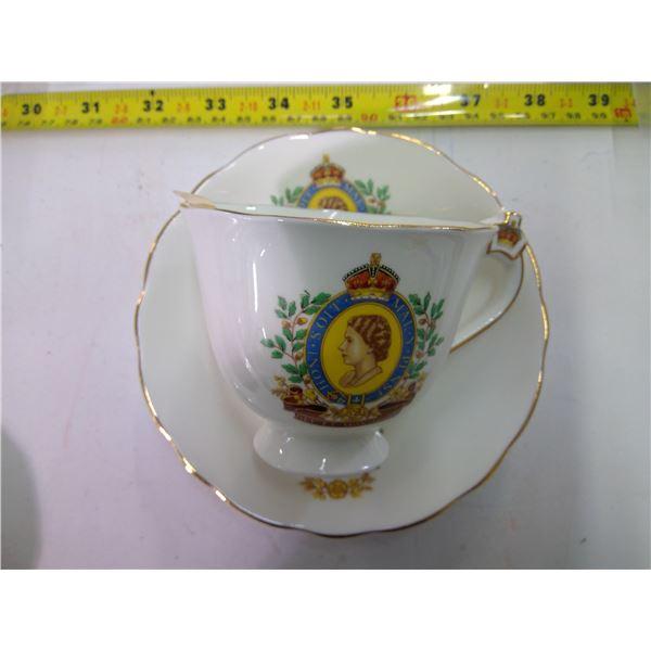 Teacup & Saucer - China - Radfords - 1953 Coronation
