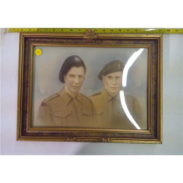 Vintage War Print in Frame