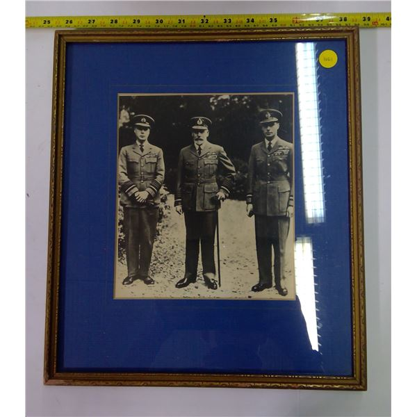 Vintage War Photo in Frame