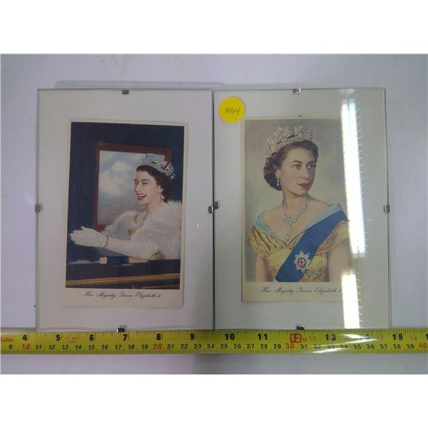 2 - Queen Elizabeth II Prints in Frames