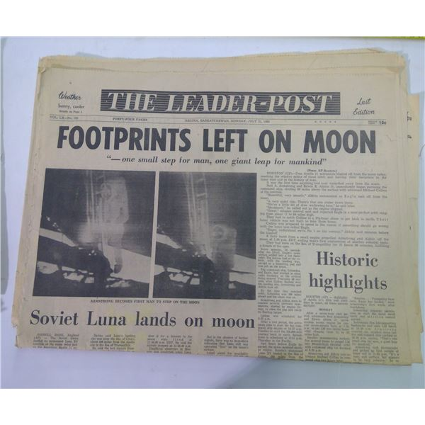 Old Paper Lot - Moon Themed