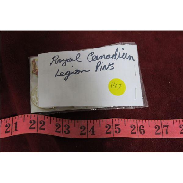 Royal Canadian Legion pins