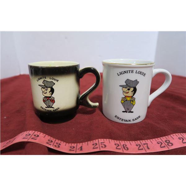 Lignite Louie Mug pair (Estevan, SK)
