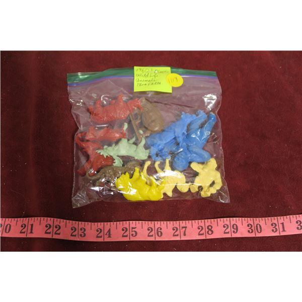 1960's plastic animals (Wildlife & farm)