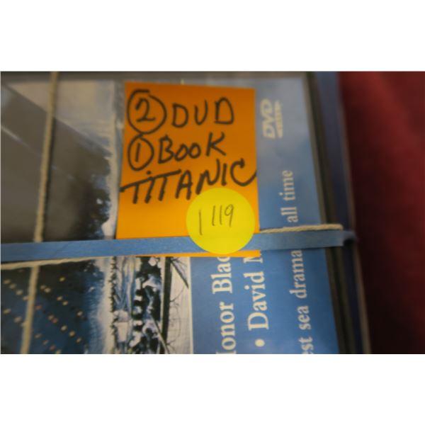 Titanic book + DVD's