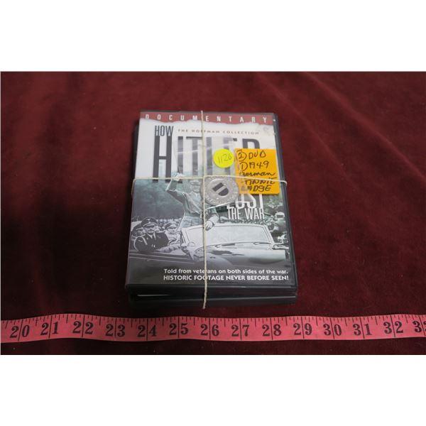 German tinnie badge, German book + 2 DVD's