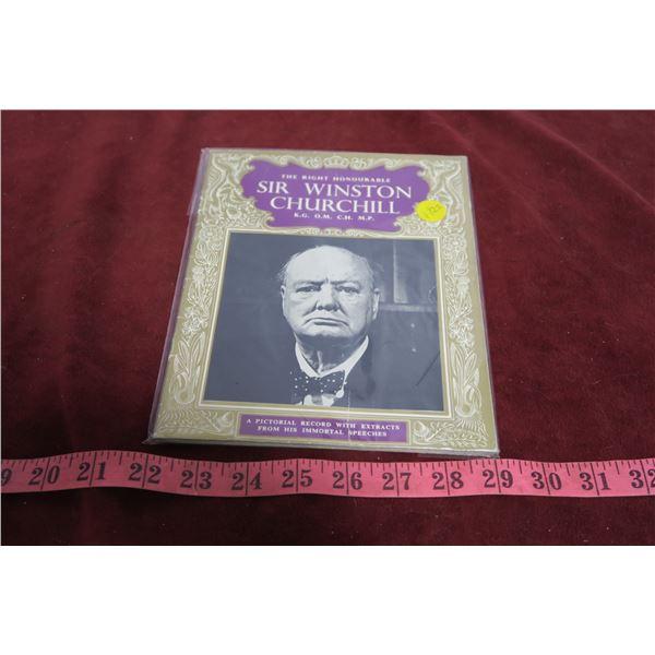Winston Churchill books + letter