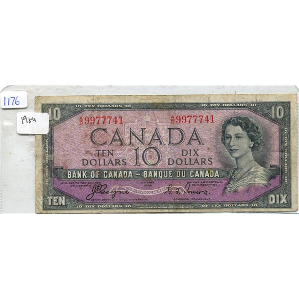 1954 Canadian Ten Dollar Bill