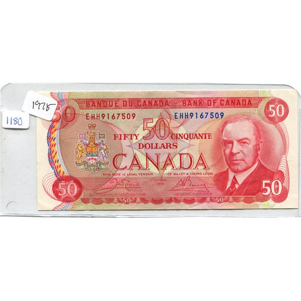 1975 Canadian Fifty Dollar Bill