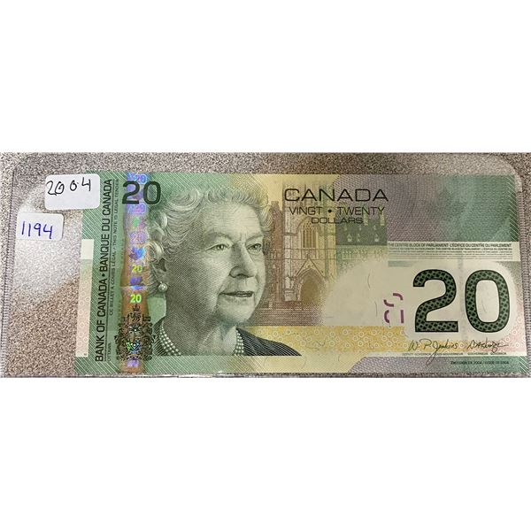 2004 Canadian Twenty Dollar Bill