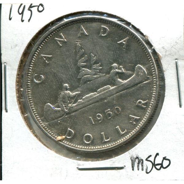 1950 Canadian Silver Dollar