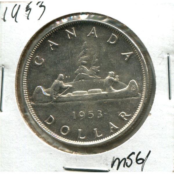 1953 Canadian Silver Dollar