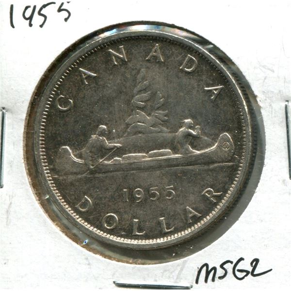 1955 Canadian Silver Dollar