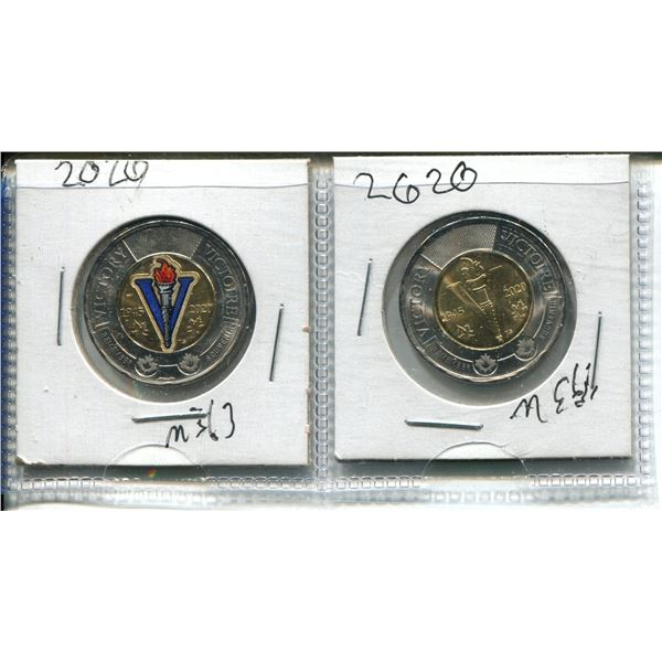 (2) 2020 Victory Toonies (One Colourized)