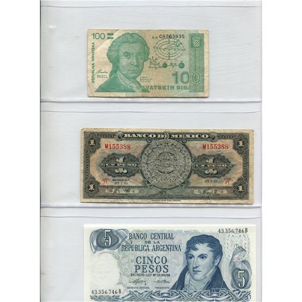 Lot Of (3) Foreign Bills