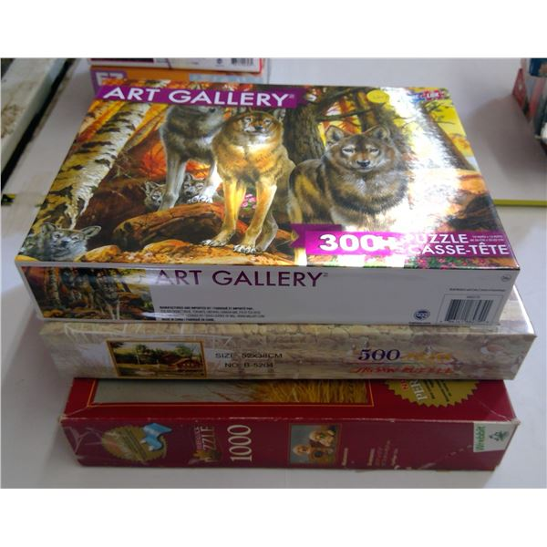 Lot of 3 Puzzles