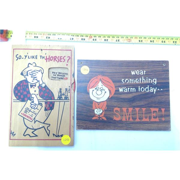 2 - Wooden Décor Signs
