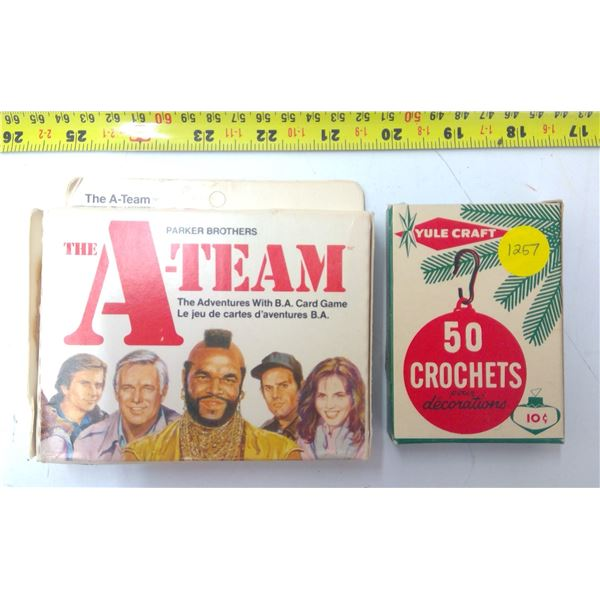 Collectible A-Team Card Game & Vintage Hooks
