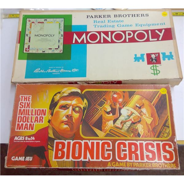 2 - oard Games - Bionic Crisis & Monopoly
