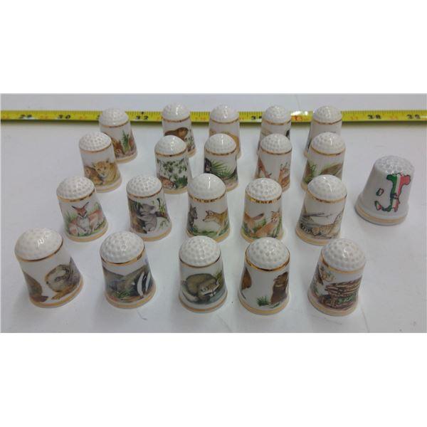 Set of Bone China Decorative Thimbles