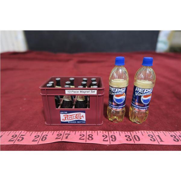 Lot Pepsi magnet set + 2 Pepsi lip balms