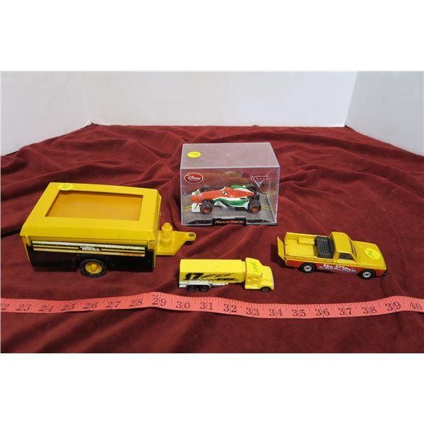 4 childrens toys, (Corgi, Tonka, Pez)