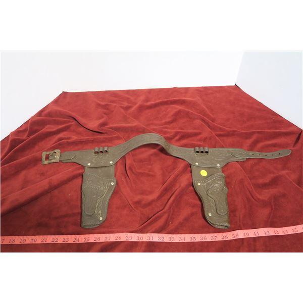 Toy gun holster w/ metal buckle
