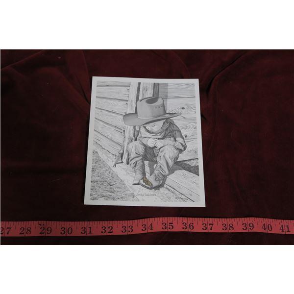 """1993 Bernie Brown Print """"Small Wonders"""""""