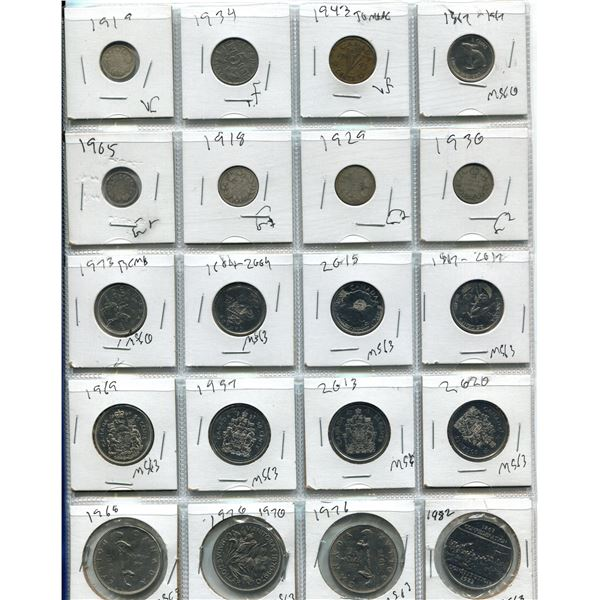 Lot Of 20 Canadian Coins (Various Dates)