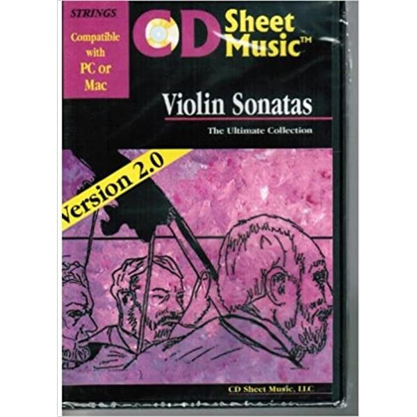 Violin Sonatas: The Ultimate Collection Sheet music on CD