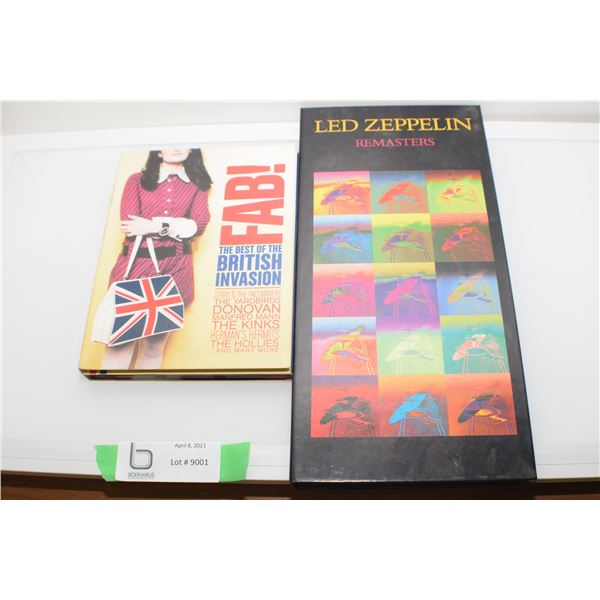 LED ZEPPELIN & BRITISH INVASION BOXED CD SETS