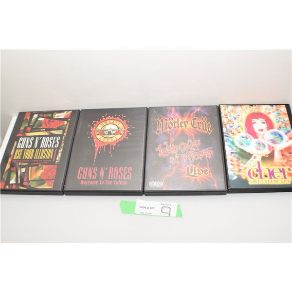 4 PACK OF ROCK DVD CONCERTS