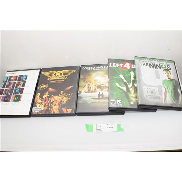 3 PACK OF ROCK DVD CONCERTS AND 2 MOVIE DVD