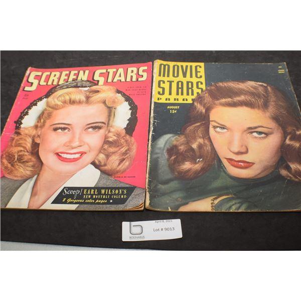 1945 MOVIE MAGAZINES