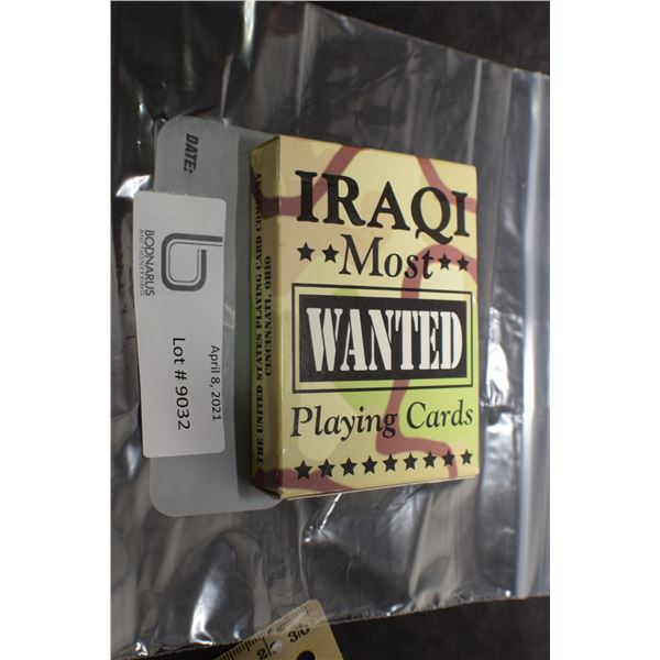 VINTAGE MINT SEALED GULF WAR IRAQI PLAYING CARDS